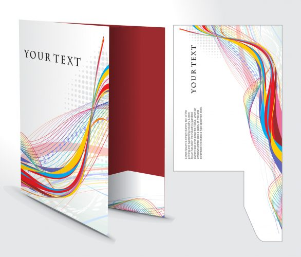 corporate folder with die cut design, best used for your project.