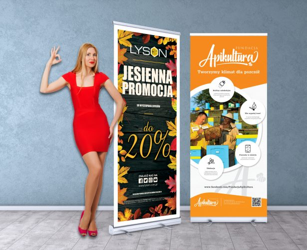 Rollup banners stand. Blank template mockups. Exhibition stand r